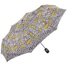 GOTTA Paraguas Plegable antiviento de Mujer. Pequeño y Abre-Cierra automático.