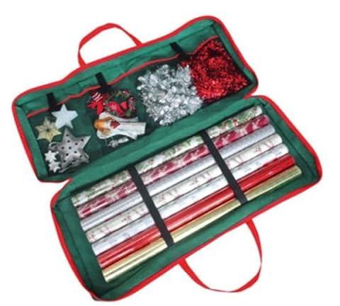 Sac de rangement avec organiseur pour décorations et emballages de Noël