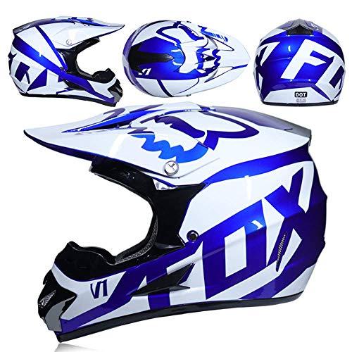 Peakedness Motocross-Helm, Vollgesichtshelm für Männer und Frauen, Motocross-Helm, Schutzhelm, Ritter-Offroad-Helm, Cooler Offroad-Helm,XXL