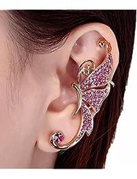 213becaf44b5 Beisoug Crystal Butterfly Wings Ear Clip Clamp Pendiente Joyería de Moda