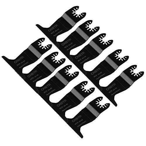 cnbtr schwarz 65x 40mm Carbon Stahl feine Zahn Sägeblatt Pendelndes Multitool Präzision Quick Release Sägeblätter Set von 10