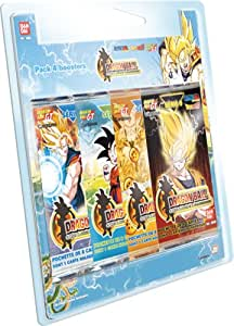 Bandai - Dragon Ball Cartes - 5065 - Cartes à Collectionner - Blister 4 Boosters de 8 Cartes Dbz