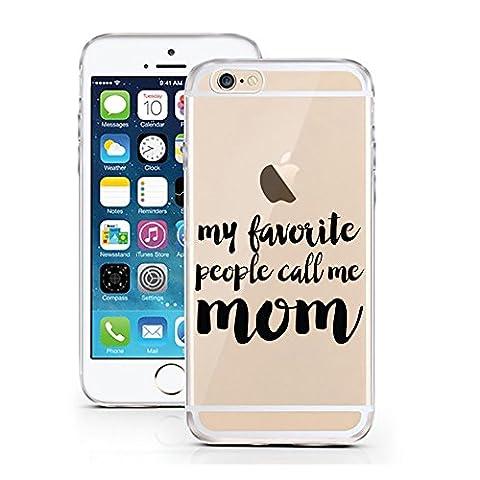iPhone 7 Hülle von licaso® für das Apple iPhone 7 aus TPU Silikon My favorite People Call me Mom Mama Mutti ist die Beste Muster ultra-dünn schützt Dein iPhone 7 & ist stylisch Case Design Schutzhülle Bumper Geschenk (iPhone 7, Call me Mom)