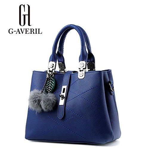 G-AVERIL, Borsa a mano donna Nero Black Navy Blue