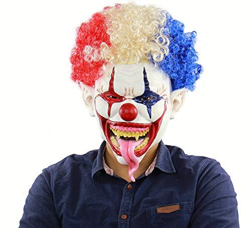 Frmarche Halloween Clown Maske Terrible Geister Clown Horror Dekoration Halloween Cosplay Gesicht
