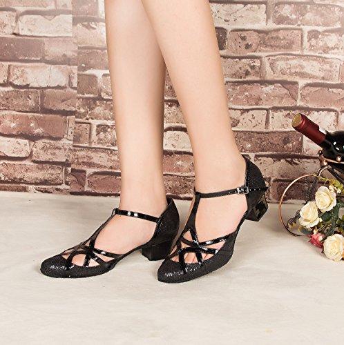Minitoo , Chaussures de danse pour homme Black-5cm Heel