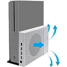 CestMall Xbox One S Ventilador de soporte vertical y 4 puertos USB Hub para Xbox One S - Premium Xbox One Accesorios