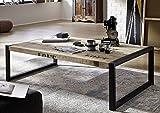 Massivholz Möbel bedruckt Industrial-Stil Mangoholz Couchtisch 140x80 vollmassiv Eisen Factory #111