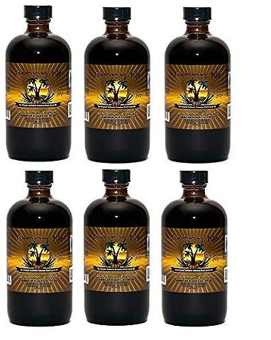 Sunny Isle Extra Dark Jamaican Black Castor Oil 8 oz, 6 Pack by Sunny Isle
