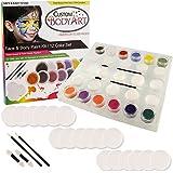 Custom cuerpo Art 12colores secundaria Face Paint Kit Set Tarros grandes de 10ml con aplicador