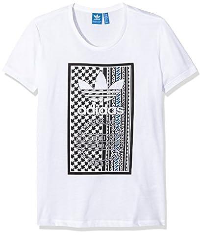 Adidas T-Shirt Soccer Tribal 38 Blanc - Blanc