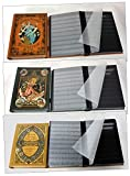 Goldhahn 3er Set Nostalgie-Alben Briefmarkenalben Einsteckalben 60 Schwarze Seiten Briefmarken für Sammler