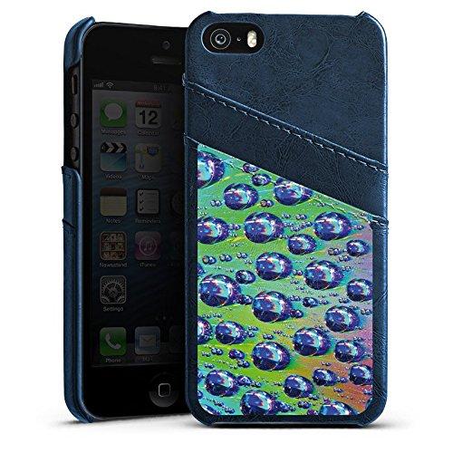 Apple iPhone 6 Housse Étui Silicone Coque Protection Gouttes Lumière Eau Étui en cuir bleu marine