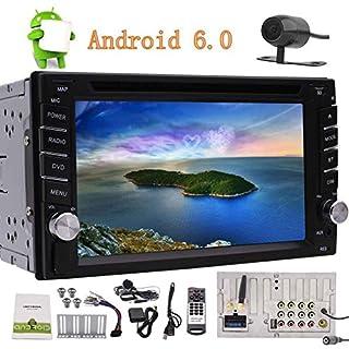 Eincar Quad-Core-Android 6.0 Auto-Stereo GPS Navigation Doppel-DIN-6.2 '' Touch-Screen-Auto-DVD-Spieler in der Schlag-Head Unit Radio Receiver Unterst¨¹tzung WiFi / OBD2 / Bluetooth 4.0 / Mirrorlin