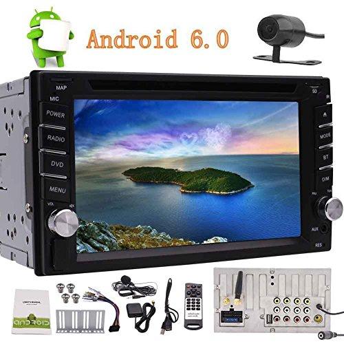 Eincar Quad-Core-Android 6.0 Auto-Stereo GPS Navigation Doppel-DIN-6.2 '' Touch-Screen-Auto-DVD-Spieler in der Schlag-Head Unit Radio Receiver Unterstützung WiFi / OBD2 / Bluetooth 4.0 / Mirrorlink + Rückfahrkamera für Parkplatz