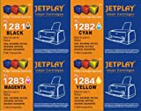 1 SET of JETPLAY T1281 T1282 T1283 T1284 (T1285) MULTIPACK Compatible Ink Cartridge for Epson Stylus Office BX305F, BX305FW, BX305FW Plus, Epson Stylus S22, SX125, SX130, SX235W, SX420W, SX425W, SX435W, SX445W Printers Replacement for T01281/T01282/T01283/T01284