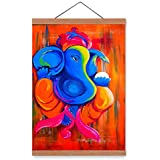 "Ganesha Wall Poster - Ganesha Painting || Ganesh Poster || Ganesh Wall Stickers || - HD Quality ,Cool, Trendy, Quirky Rolled Posters ,Gifts For Simple People."" , Add Some Quirkiness To Your Walls (12 X 18 IN), Wall Frames Are Not Included - Only Post"