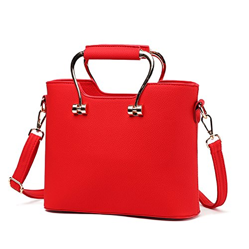 BYD - Pell Donna Handbag borsa a Spalla Borse a mano Tote Bag Shoulder Bag con maniglia in metallo