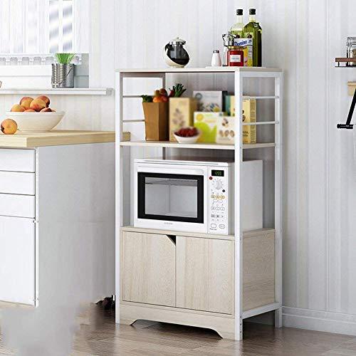 Chonusa Küche Lagerregal Regale Reiskocher Würze Flaschen Brot Maschine Halterung Holz,Ahorn Farbe,60 * 35 * 110cm -