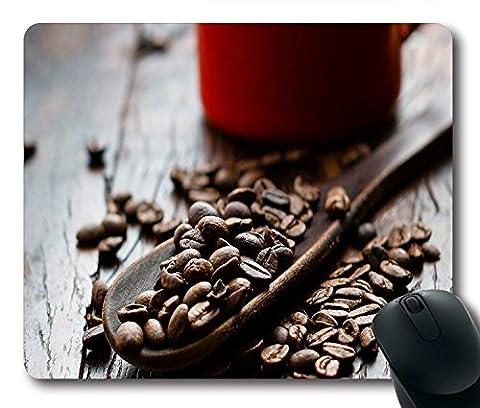 Essen und Trinken Pretty Coffee Beans Tapete rutschfeste Gummi Gaming Mauspad Größe 22,9cm (220mm) X 17,8cm (180mm) X 1/8(3mm)