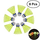 WINOMO LED Badminton Shuttlecocks Beleuchtung Birdies Federball für Indoor Outdoor Sports...