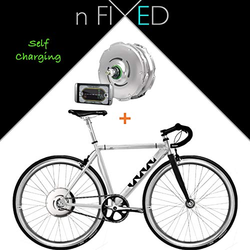 London Fixed Gear Zehus e-bike + Shadow Smart elettrica Pedelec bicicletta, 50