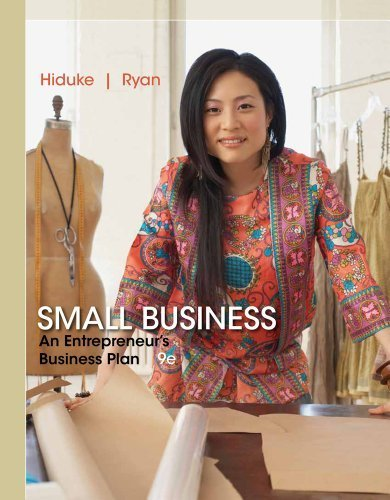 By Hiduke, Gail, Ryan, J. D. Small Business: An Entrepreneur's Business Plan (2013) Paperback