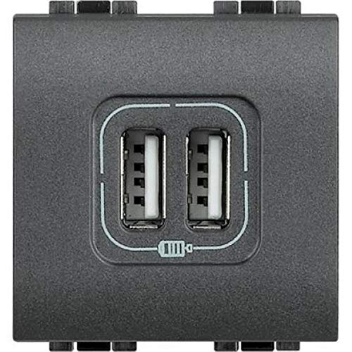 BTicino Living International L4285C2 Presa Caricatore USB, 2 Post