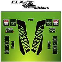 Ecoshirt I1-DUEB-78RO Autocollants Fourche Fork Rockshox Reba 2016 Am33 Stickers Aufkleber Decals Autocollants Bike BTT VTT Cycle Orange 29