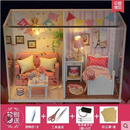 DIY Spielzeug DIY Modell Traumengel Handmontiert Hütte Spielzeug Haus Gebäude Idee 17*13.5*12.3 Lady House Basic Edition (Halloween-kostüm-ideen, Farbe Edition)