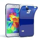 EAZY CASE GmbH Hülle für Samsung Galaxy S5 Mini Schutzhülle Silikon, Ultra dünn, Slimcover, Handyhülle, Silikonhülle, Backcover, Transparent/Durchsichtig, Blau
