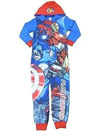 Marvel Avengers Garçons Polaire à capuche One Piece Grenouillère