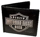 Wotan Textil Moto Caisse–Monsieur Portefeuille Cuir de vachette - Noir - noir,