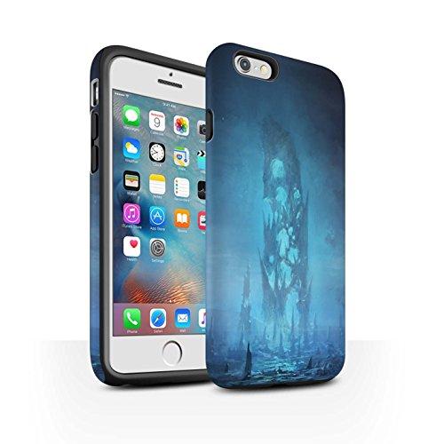 Offiziell Chris Cold Hülle / Matte Harten Stoßfest Case für Apple iPhone 6S+/Plus / Rest Muster / Fremden Welt Kosmos Kollektion Rest