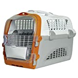 CATIT Transportbox Cabrio - Weiß-Grau-Orange, Hundebox, Katzenbox