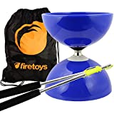 Blu Big Top - Cuscinetto Jumbo Set Diabolos, Aste Ali Dream Diabolo in metallo, corda Diabolo & Borsa!