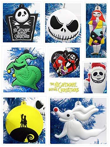 Holiday Nightmare Before Christmas Weihnachtsbaum Ornament Set 8Teilig mit Jack Skellington und Freunden-in 6,3cm zu 8,9cm Hoch -