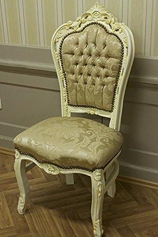 Salle à manger chaise, style baroque, tissu