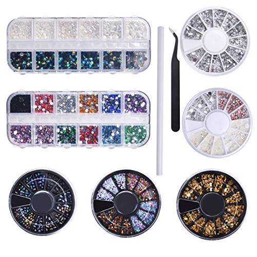 Biutee Nail Art 7 Cajas Diamantes Decoracion Uñas