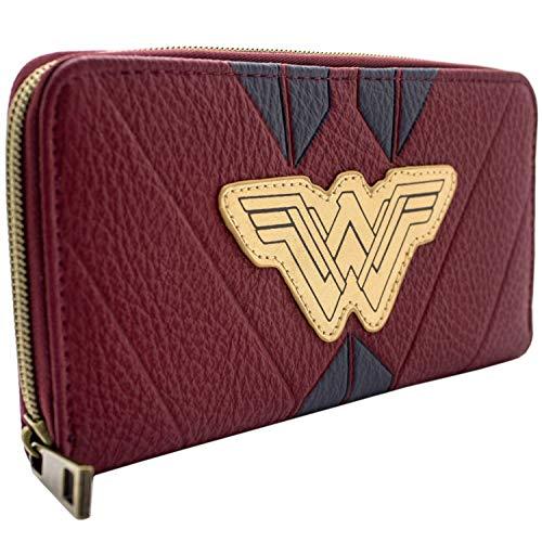 Cartera de DC Wonder Woman Traje Rojo Guerrero