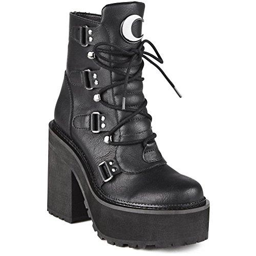 Killstar Botas de Material Sintético para mujer Negro negro One Size, color Negro, talla 42