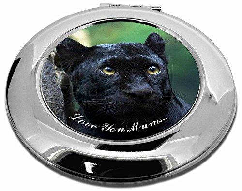 Advanta - Compact Mirror Black Panther 'Love You Mum' Make-up Rund Taschenspiegel Weihnachten Geschenk