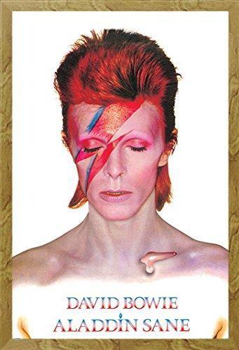 David Bowie Aladdin sane poster con accessori, MDF-Frame oak, 61 x 91,5 (Oak Poster)