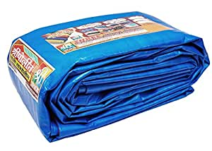 SHREE TARPAULINS Sheets Waterproof 100% Pure Virgin UV Treated 125 GSM Blue Plastic (24 FT X 21 FT)