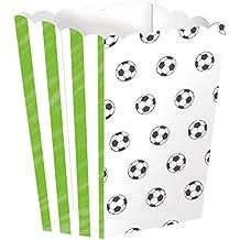 4 cuencos de palomitas * Balones de Fútbol * para WM 2018 de fiesta o cumpleaños