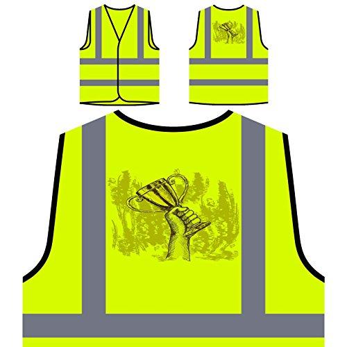 Personalisierte High Visibility Gelbe Sicherheitsjacke Weste v663v ()