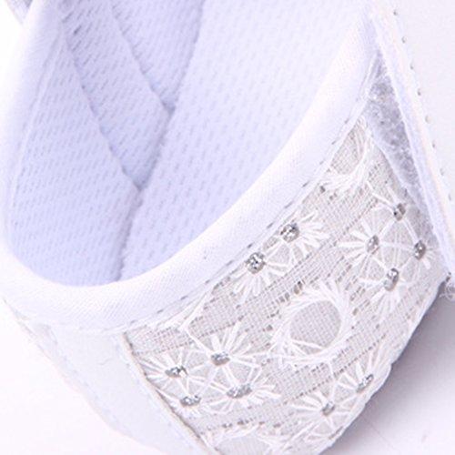 Lukis Baby Mädchen Ballerina Festliche Schuhe Kinderschuh mit Blumen Weiß