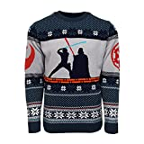 Official Star Wars Luke Vs Darth Christmas Jumper/Ugly Sweater - UK L/US M
