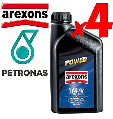 Olio Motore 15w40 Petronas/AREXONS Power Multigrado 4 L Litri Motori Benzina E Dies