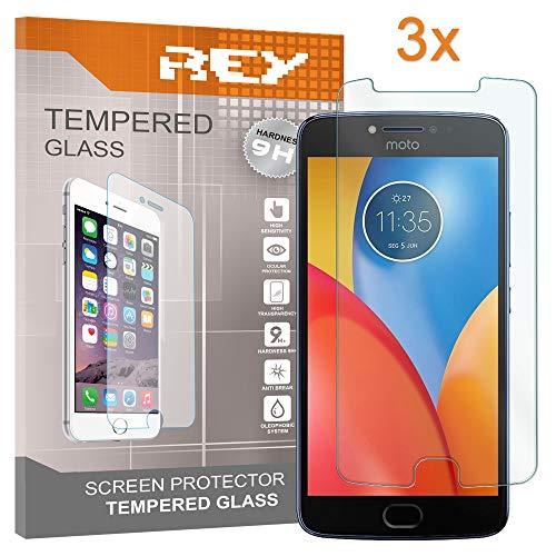 [Lot de 3] Verre Trempé pour Motorola Moto E4 Plus, Protecteur d'écran qualité supérieure, Électronique Roi®